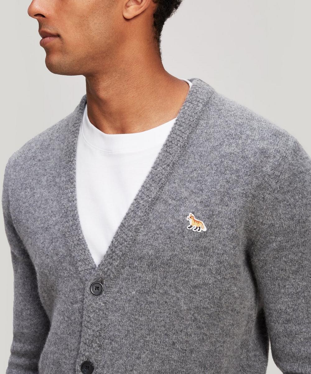 Fox Logo Merino Wool Cardigan