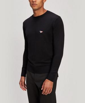 Fox-Embroidered Wool Sweater