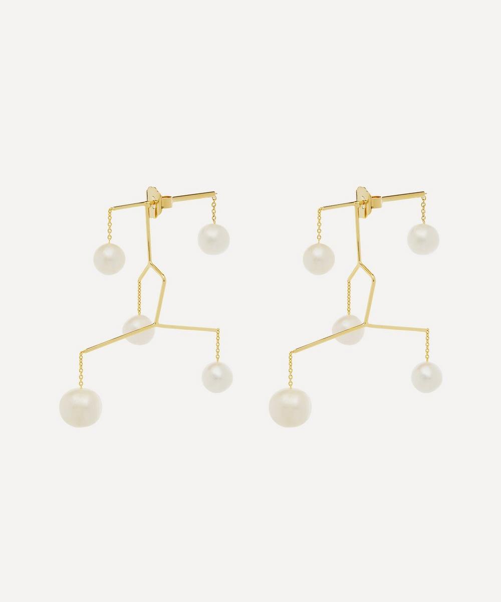 Gold-Plated Kinetic Perle Drop Earrings