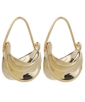 Gold-Plated Mini Paniers Dorés Drop Earrings