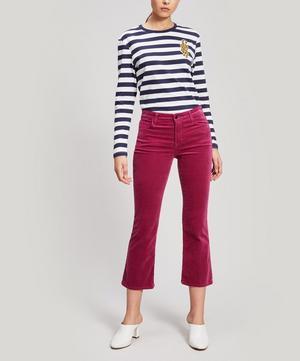 Selena Mid-Rise Crop Velvet Trousers