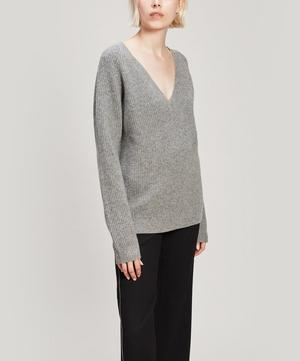 Jayla Recycled Cashmere-Blend V-Neck Sweater