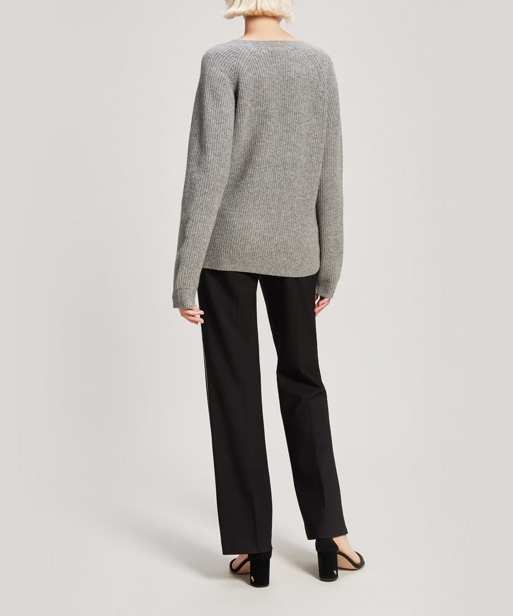 Jayla Recycled Cashmere-Blend V-Neck Sweater