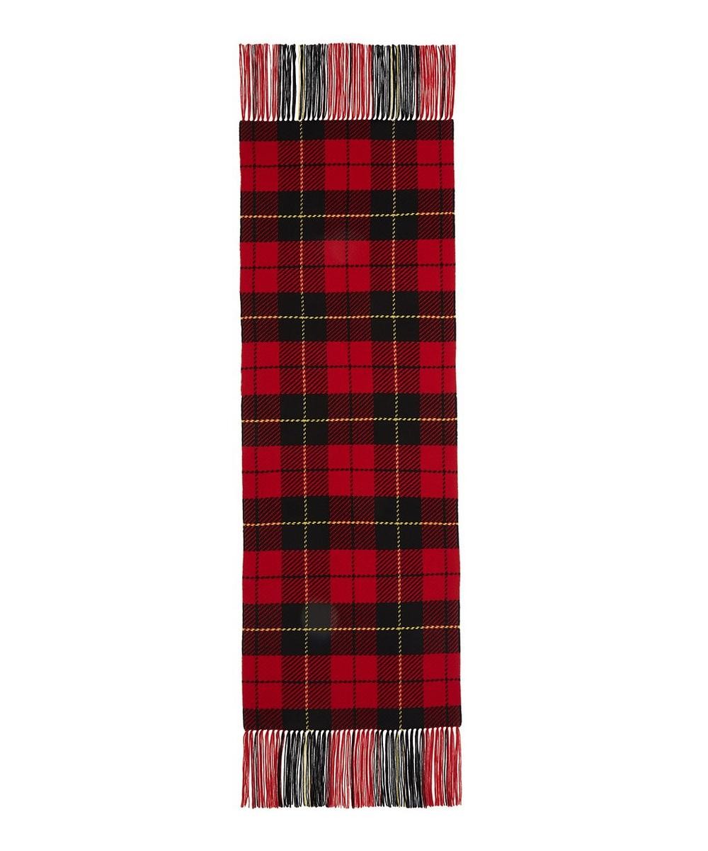 Wool Fringed Tartan Scarf