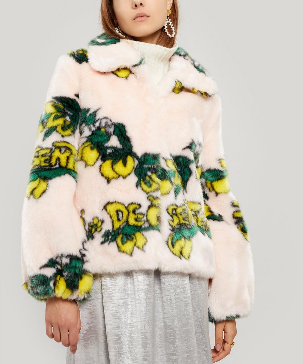 Cullen Lemon Faux-Fur Jacket