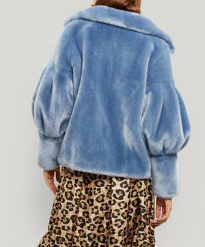 Zio Puff Sleeve Faux Fur Jacket