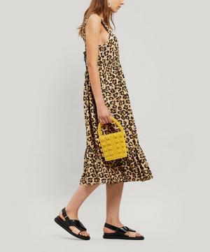 Sylvia Leopard Print Silk Midi-Dress