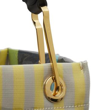 Glossy Grip Small Striped Tote Bag