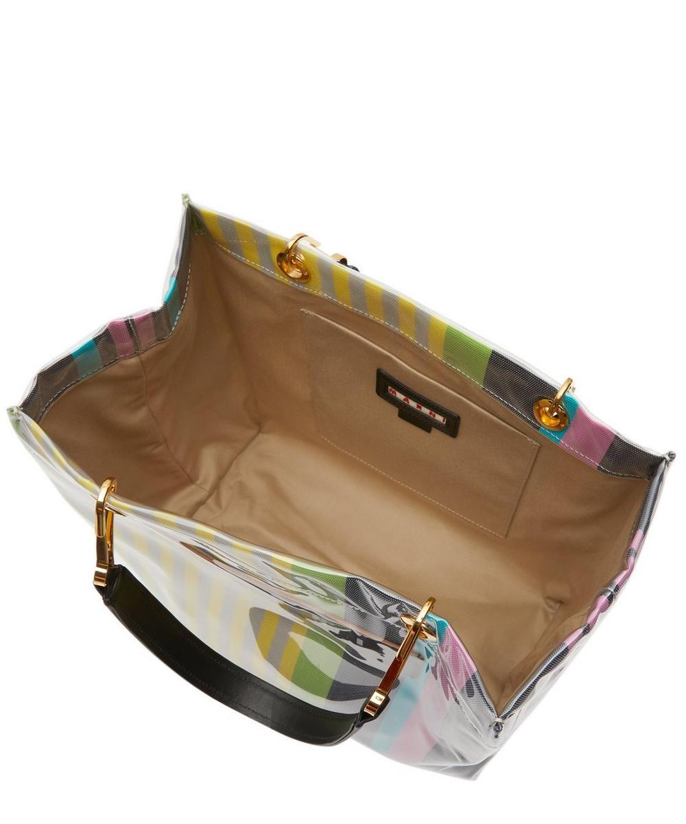 Glossy Grip Medium Striped Tote Bag