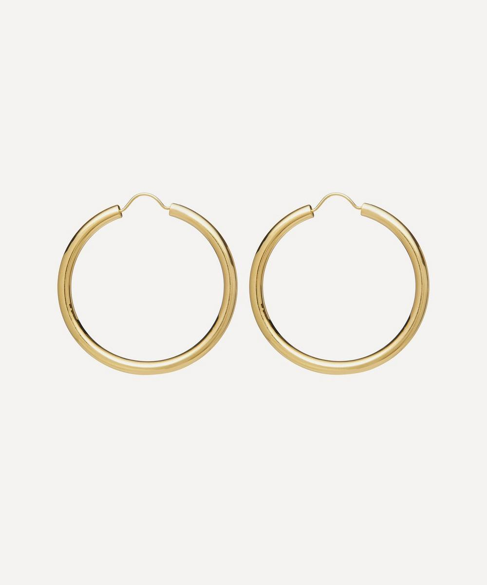 Gold-Plated Large Gypsy Hoop Earrings