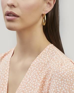 Gold-Plated Simple Hoop Earrings