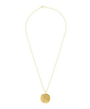 Gold-Plated Letter F Alphabet Pendant Necklace