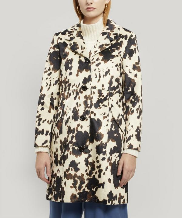 Rancher Cowhide-Print Coat