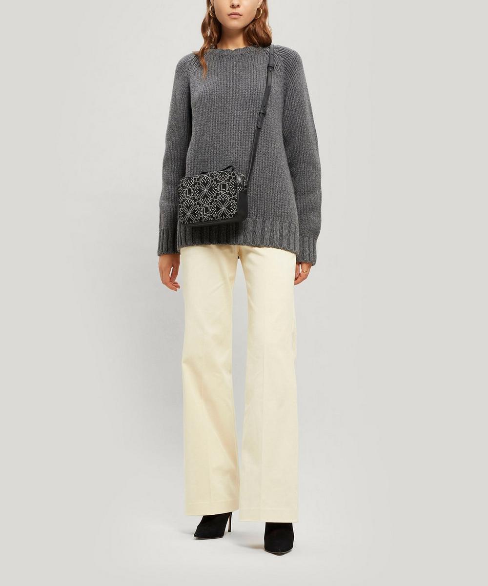 Harlequin Jacquard Maddox Cross-Body Bag