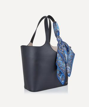 Audrey Leather Tote Bag with Customisable Silk Scarf