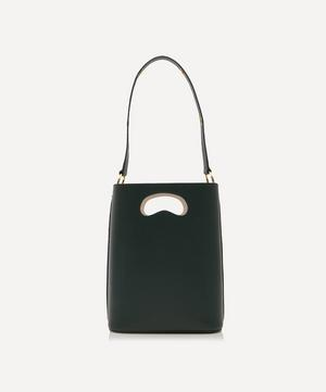 Sophia Leather Bucket Bag with Customisable Silk Scarf