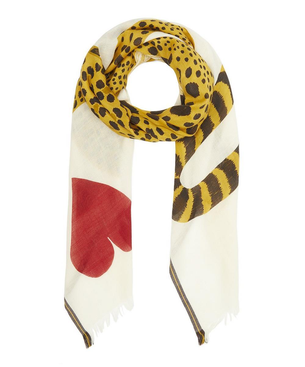 Chance Leopard Wool-Blend Scarf