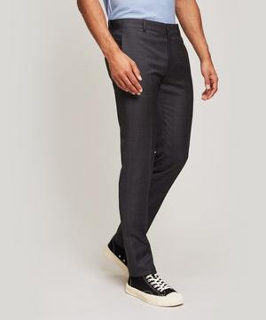 Tailored Light Checked Wool Trousers