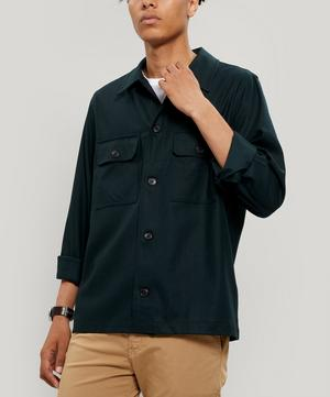 Two-Pocket Wool Overshirt
