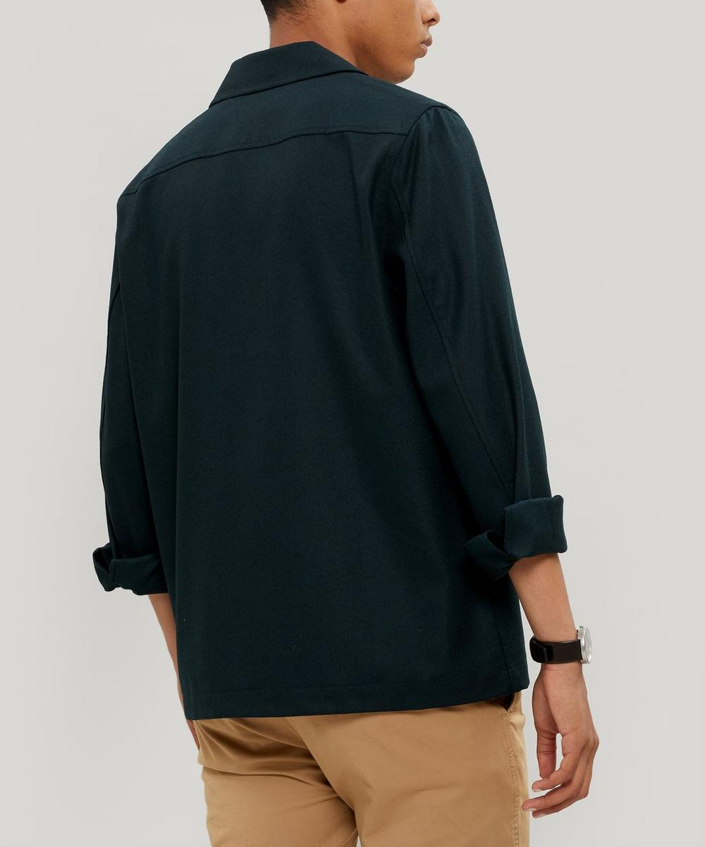 Two-Pocket Wool Overshirt