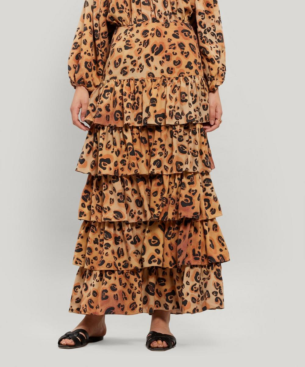 Mara Hoffman Skirts MARZIA TIERED CHEETAH PRINT SKIRT