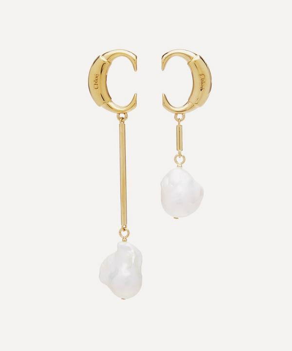 Gold-Tone Darcey Asymmetric Pearl Drop Earrings