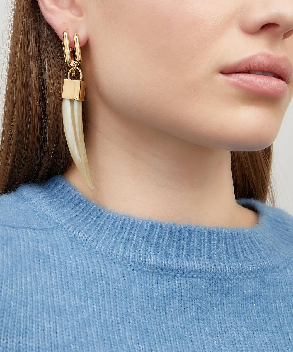 Gold-Tone Horn Drop Earring