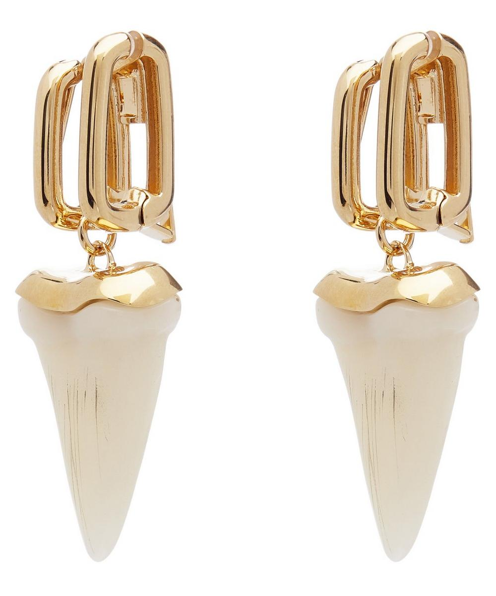 Gold-Tone Blake Resin Tooth Drop Earrings
