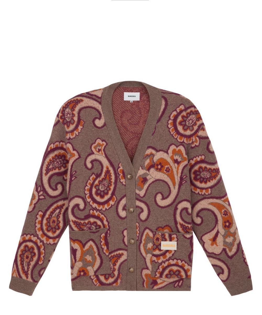 Brion Paisley Wool-Blend Cardigan