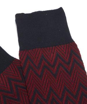 Zig-Zag Panel Socks