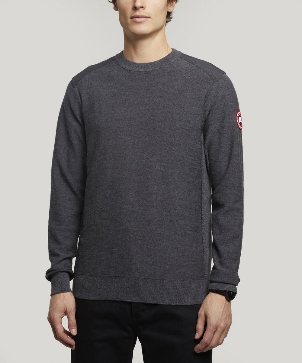 Canada Goose Sweaters DARTMOUTH LOGO PATCH CREW-NECK SWEATER