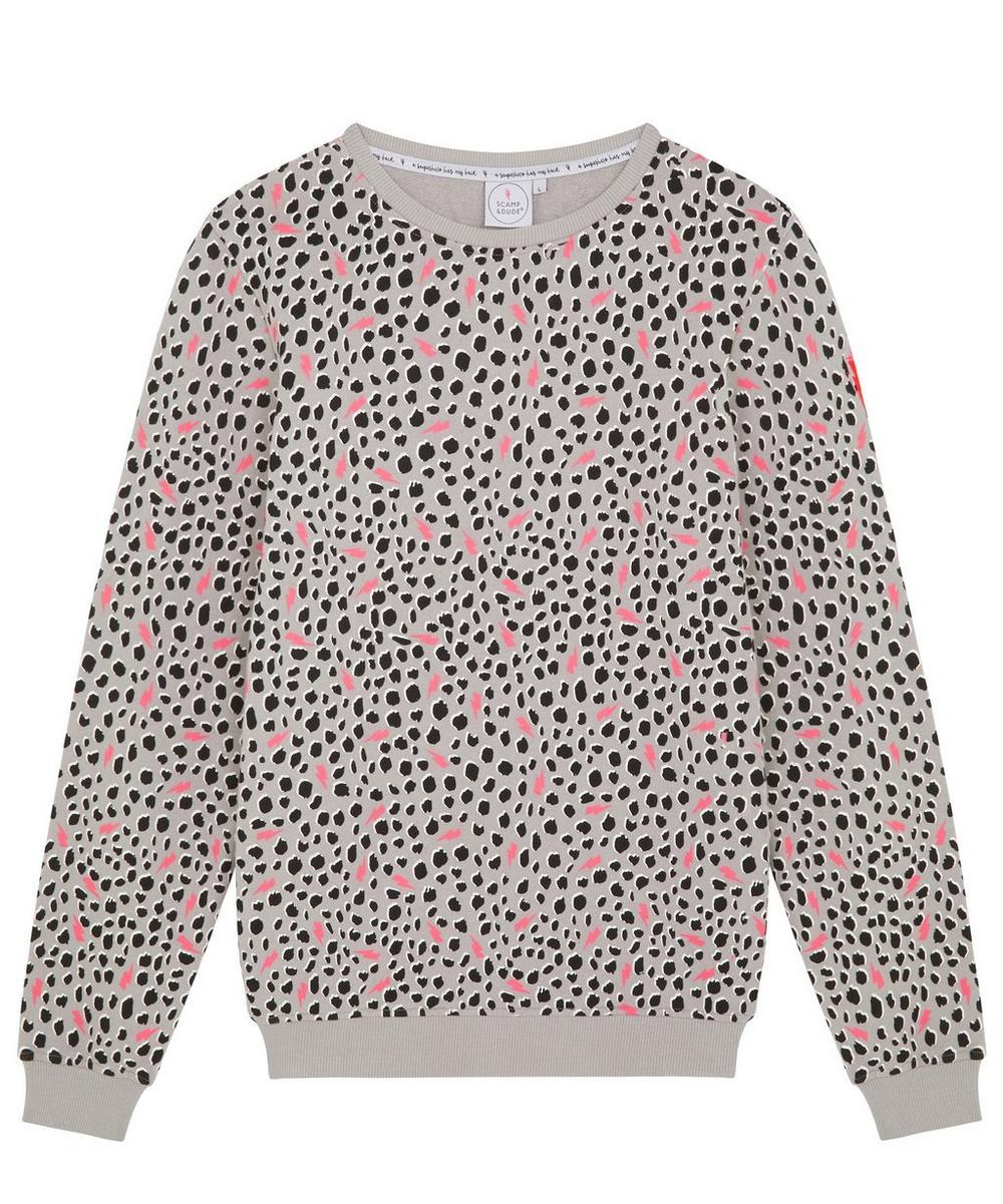 Adult Cheetah Lightning Bolt Adult Sweatshirt XS-XL