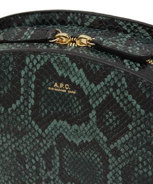Faux Snake Half Moon Cross-Body Bag