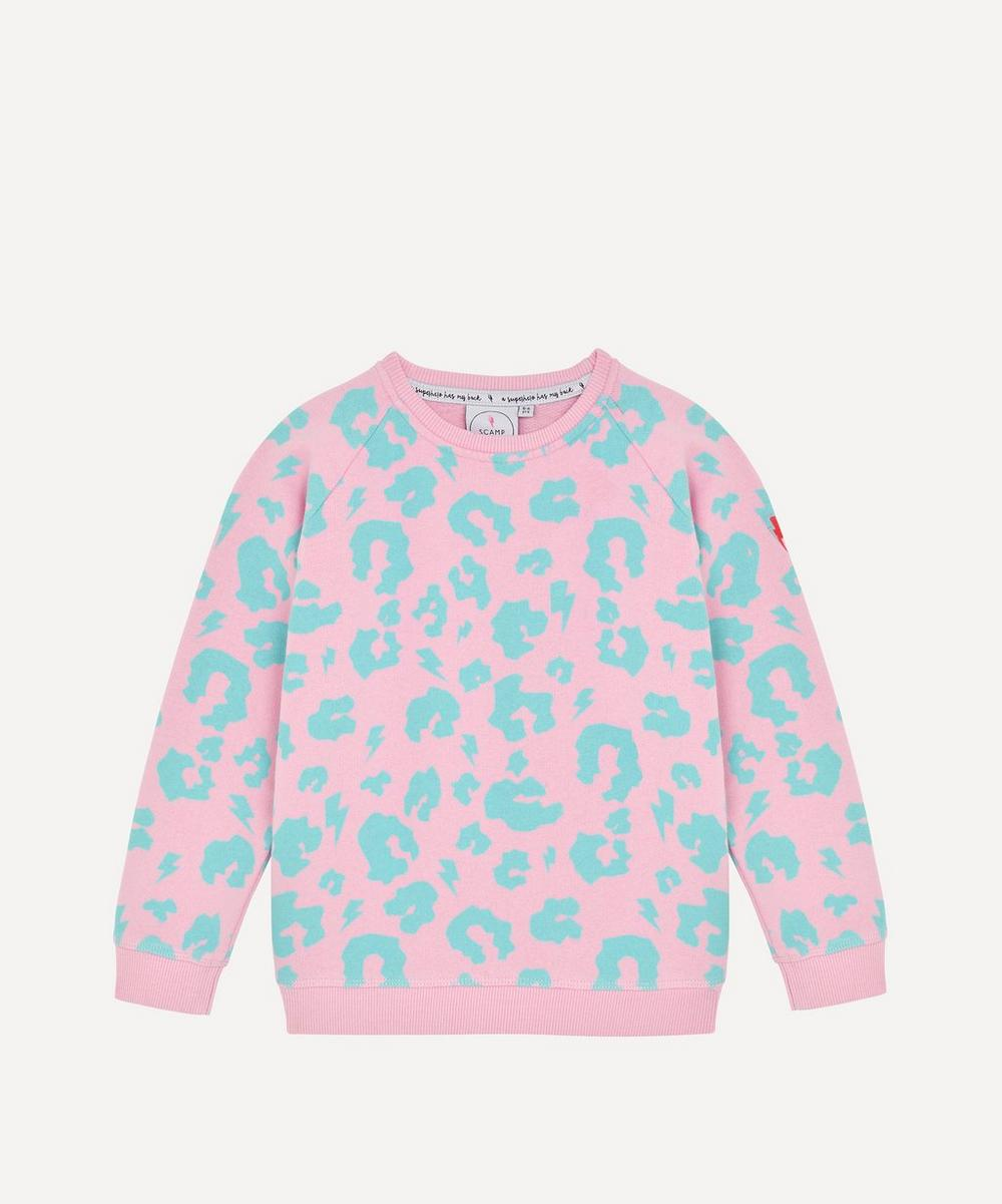 Leopard Lightning Bolt Sweatshirt 1-8 Years