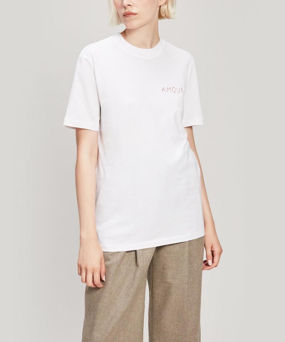 Amour Embroidered Oversized Cotton T-Shirt