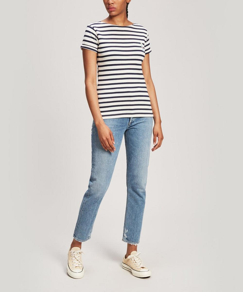 Love Me Striped Cotton T-Shirt