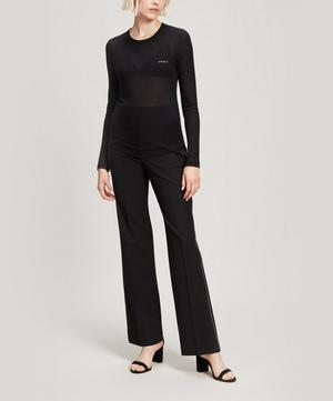 Amour Embroidered Ribbed Cotton Long-Sleeve T-Shirt