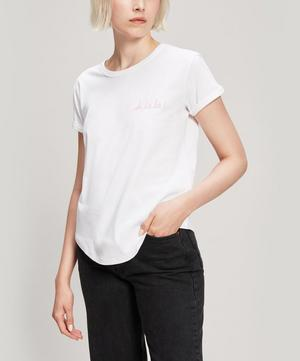 Oh La La Embroidered Cotton T-Shirt