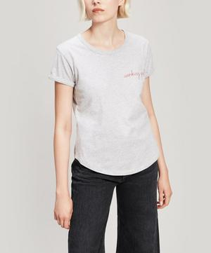 Working Girl Embroidered Cotton T-Shirt