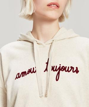 Amour Toujours Embroidered Cotton Hoodie