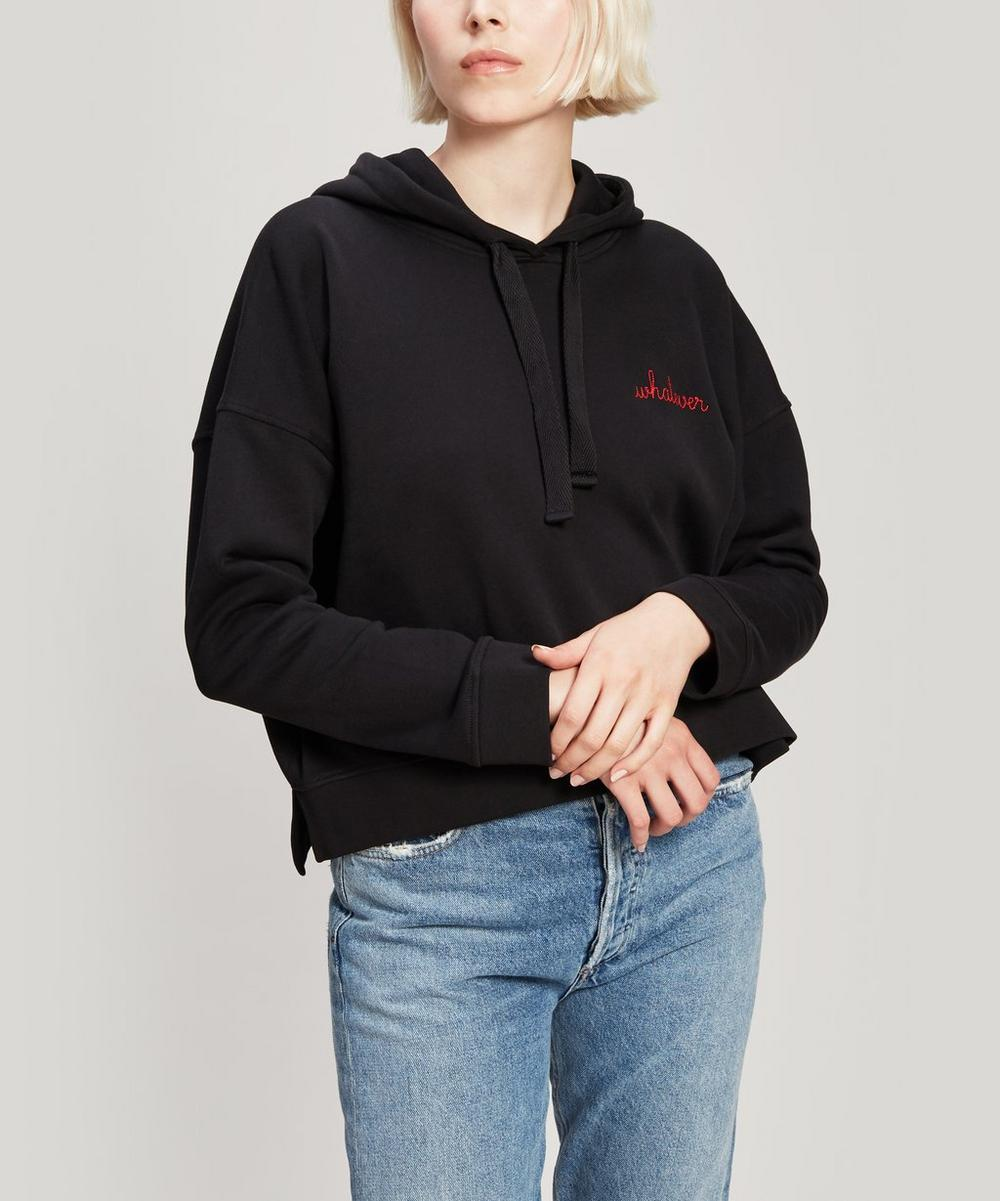 Whatever Embroidered Cotton Hoodie