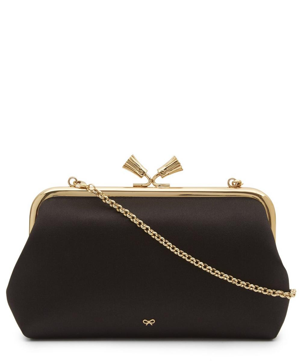Maud Tassel Satin Clutch Bag
