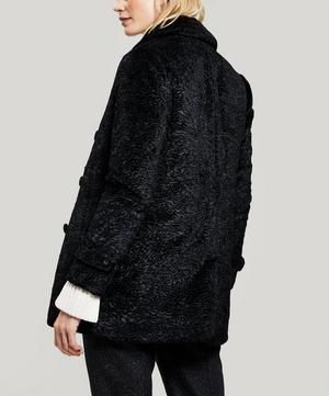 Eline Faux-Astrakan Double-Breasted Jacket