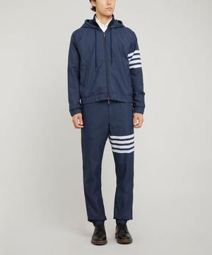 4-Bar Hooded Ripstop Windbreaker Jacket
