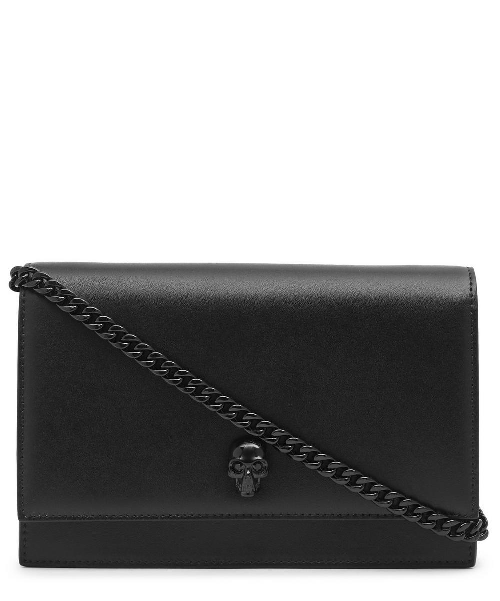 Mini Leather Skull Cross-Body Bag