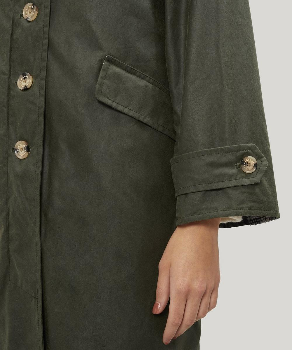 Barbour by ALEXACHUNG Maisie Waxed Cotton Coat