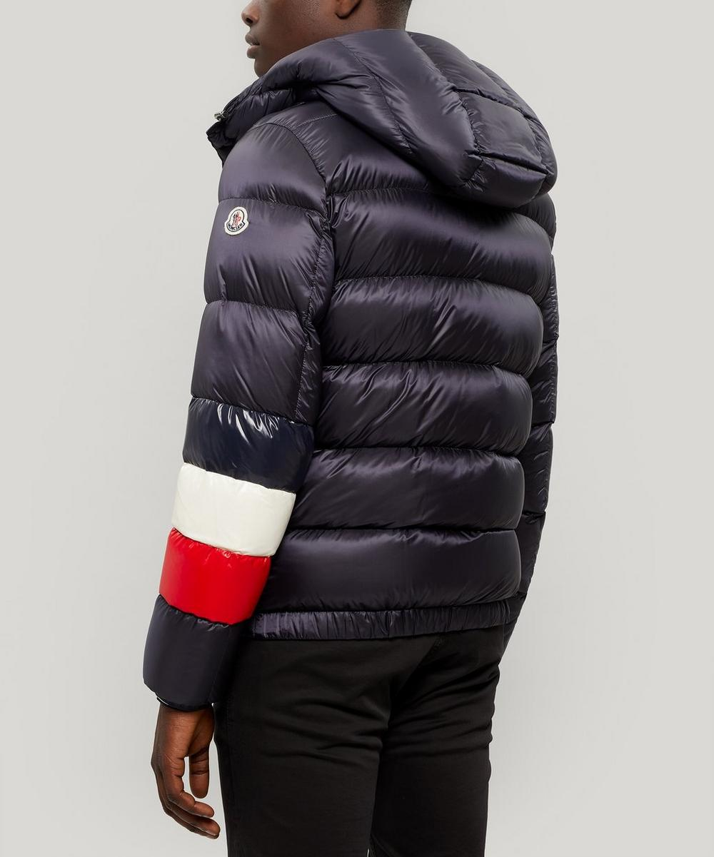Willm Tricolour Stripe Quilted-Down Jacket