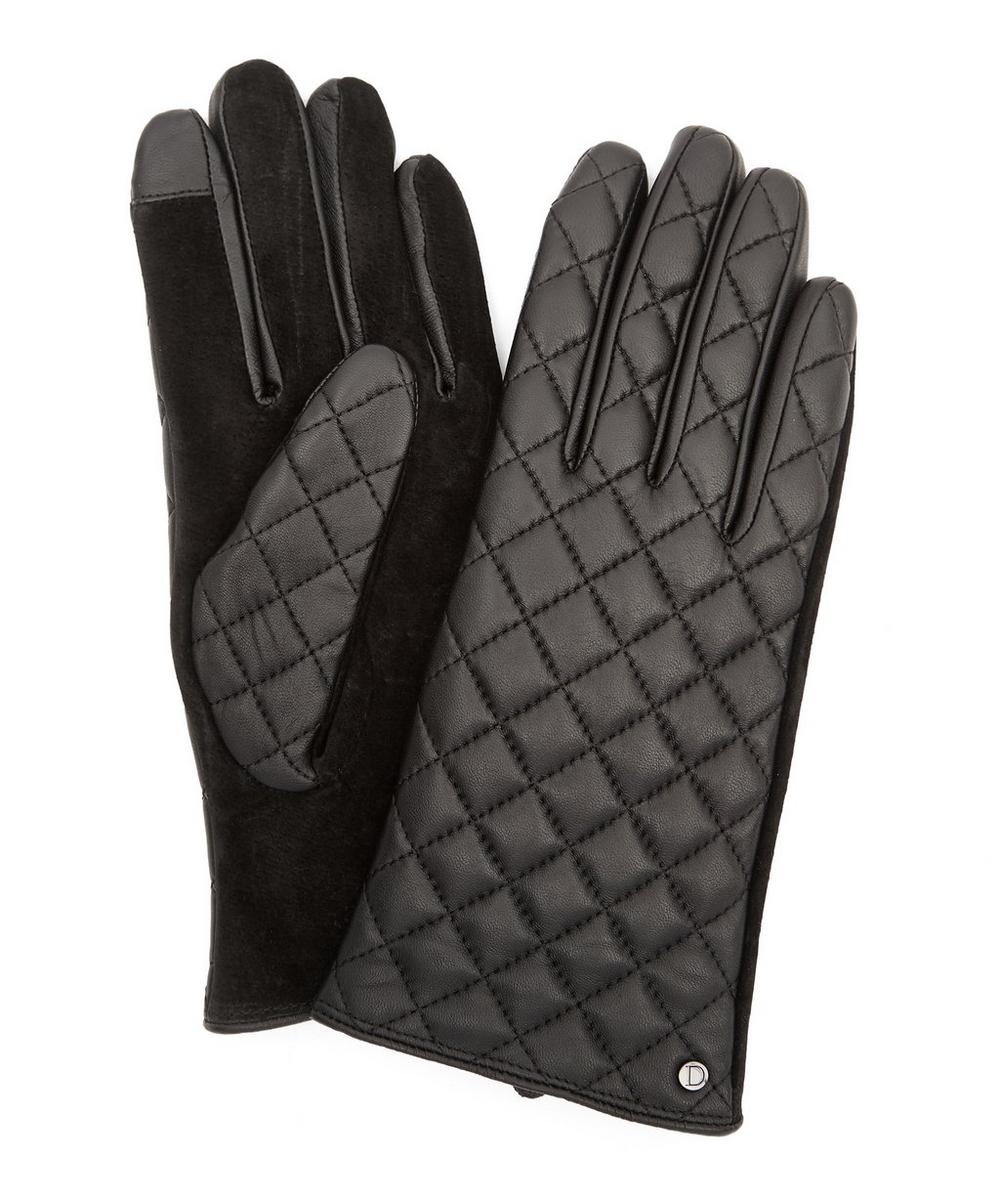 Jen Touchscreen Quilted Leather Gloves