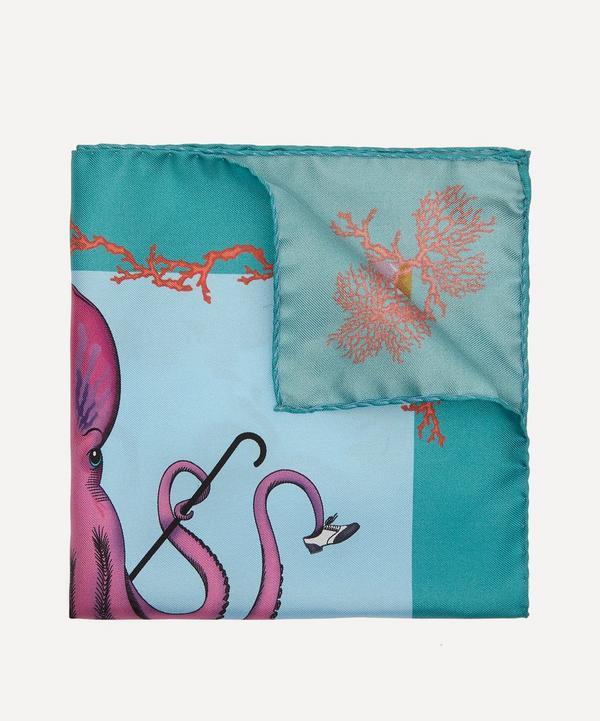 Simon Carter - Octopus Print Pocket Square