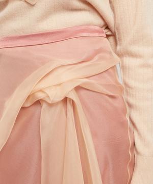 Nadine Gathered Silk-Organza and Satin Skirt